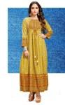 channel 9 santoor rayon printed stylish long kurti catalog