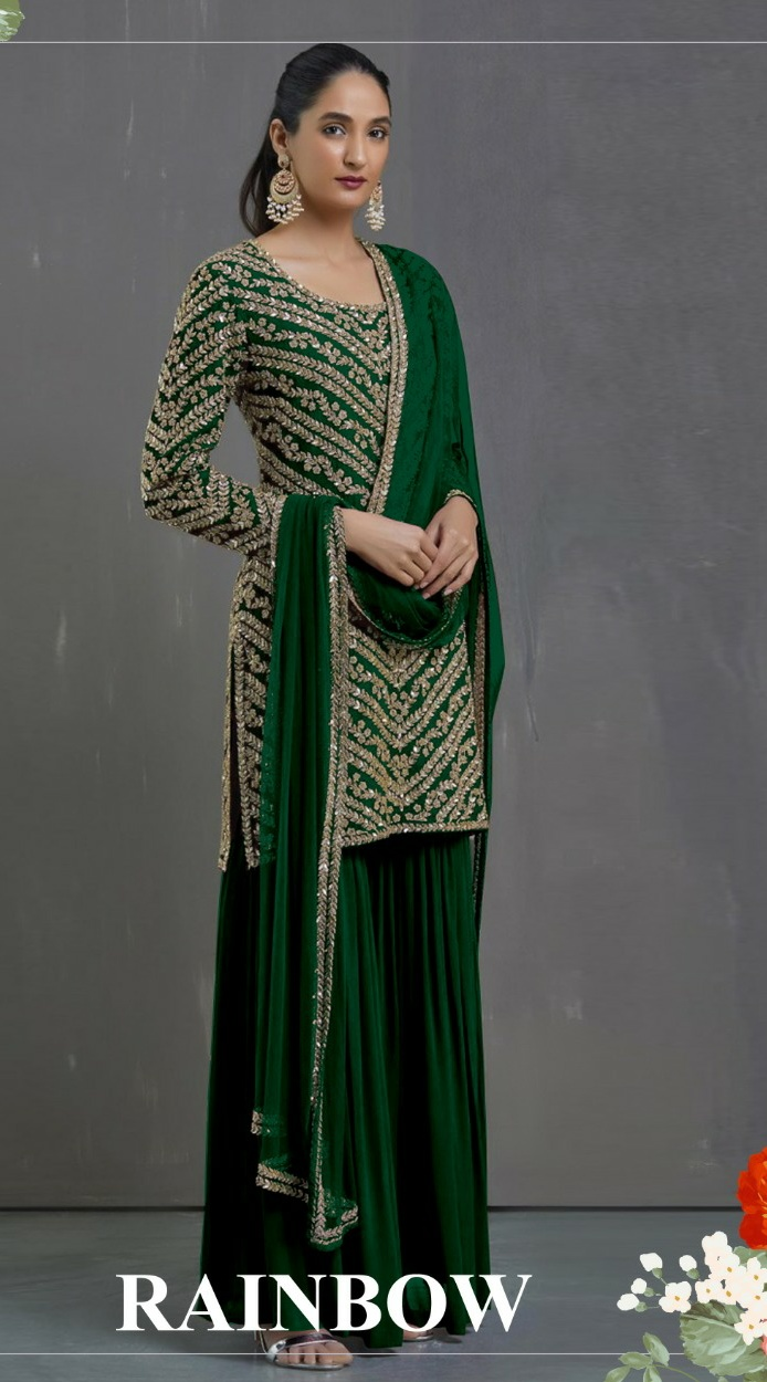 Fepic rainbow elegant and Modern Stylish Georgette  fabric Pakistani collection of Salwar suit