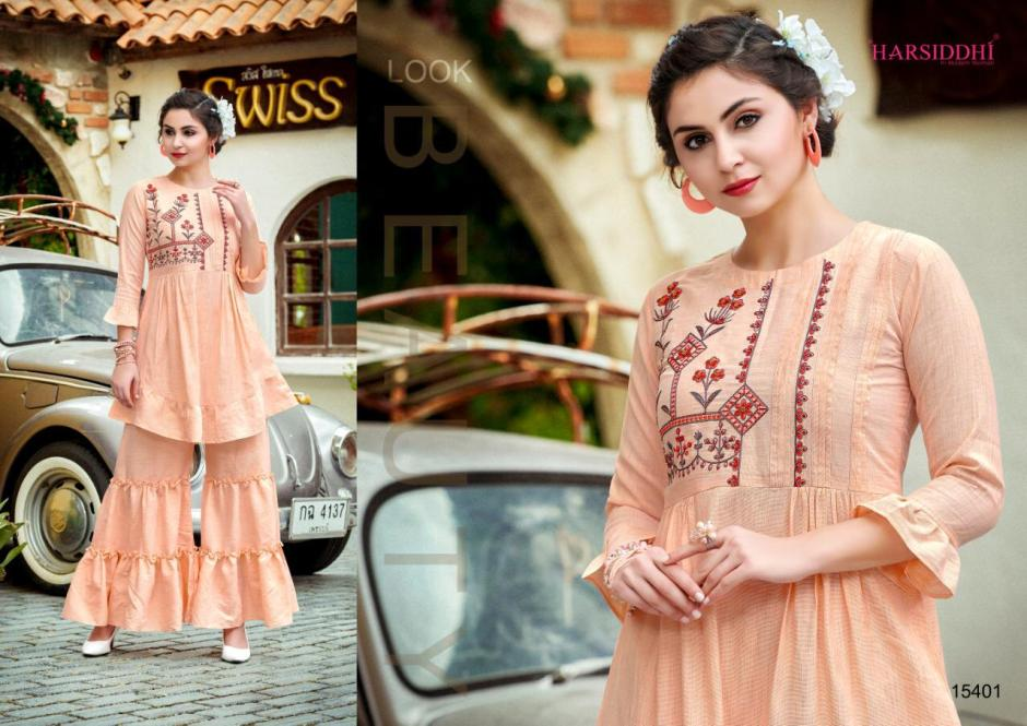 Harsiddhi styles glamors beautifully designed Kurties in wholesale prices