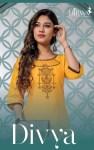 Hirwa Divya classy catchy look cotton flex with EMBROIDERY beautifull Kurties
