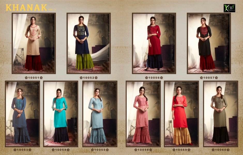 Kalaroop Khanak Vol-3 taking to fantasies Kurties in wholesale prices
