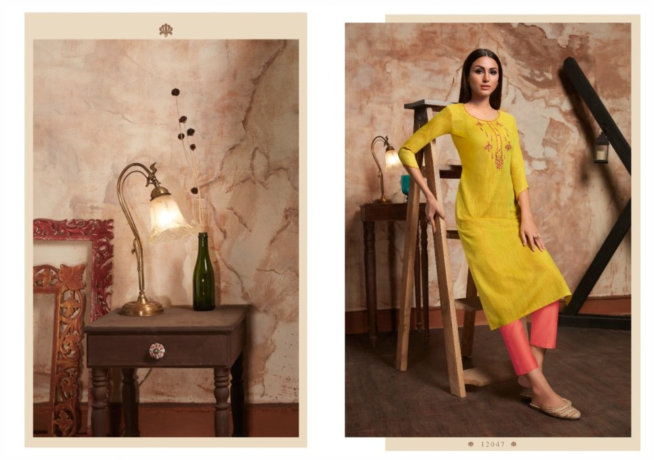 Kalaroop kivi gorgeous stunning look beautifully designed Rayon Kurties