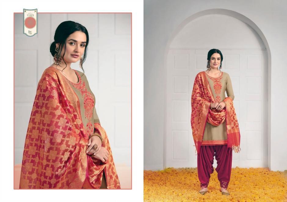 Kalaroop sunheri by Patiala astonishing style attractive look Trendy fits Kurties