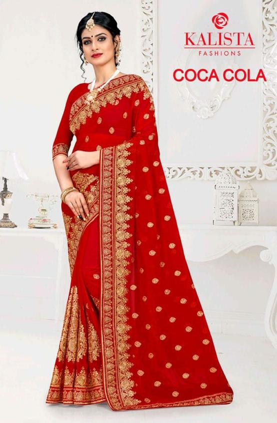 Kalista Fashions Coco cola beautifull Sarees