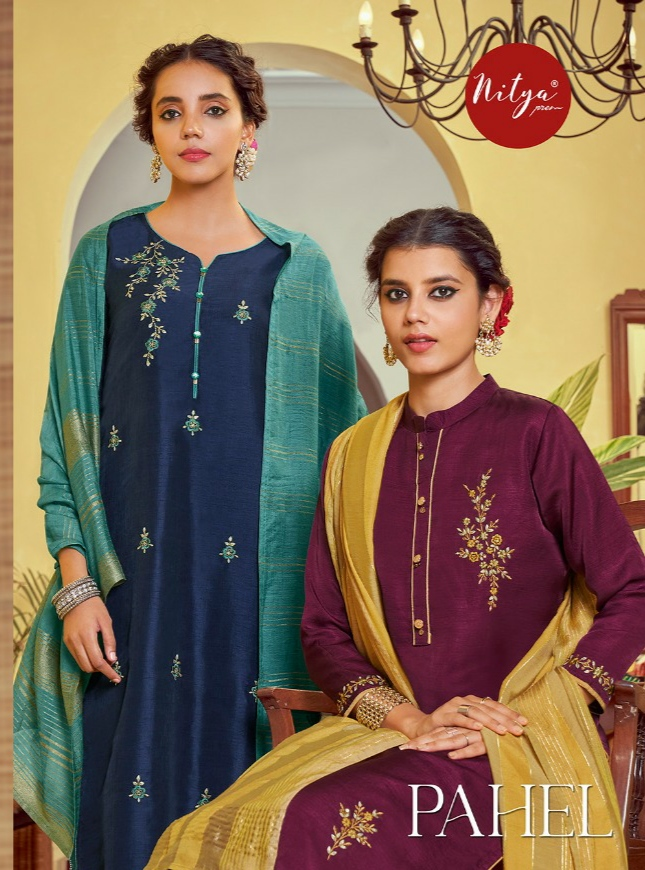 LT - PAHEL KURTI BOTTOM WITH CHANDERI DUPATTA