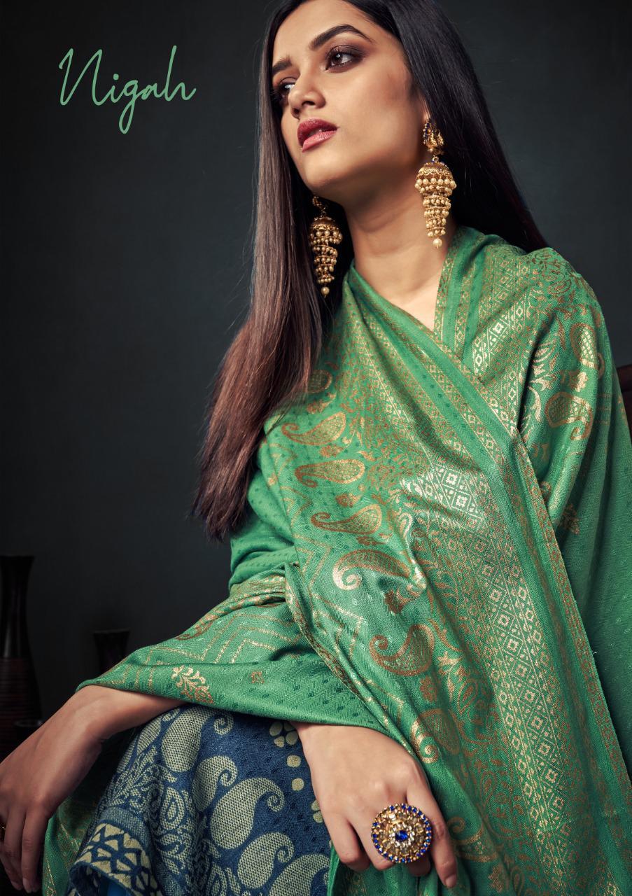 sargam prints nigah pashmina  festive look salwar suit catalog