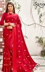 saroj natkhat chiffon with satin patta and embroided sarees