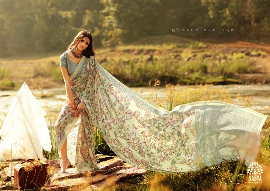 Sasya Designer Alekhya astonishing style modern style beautifully designed border Sarees