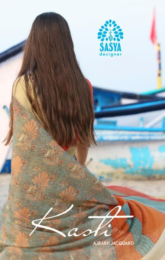 Sasya Designer Kasti a new and modern Stylish soft Cotton Sarees