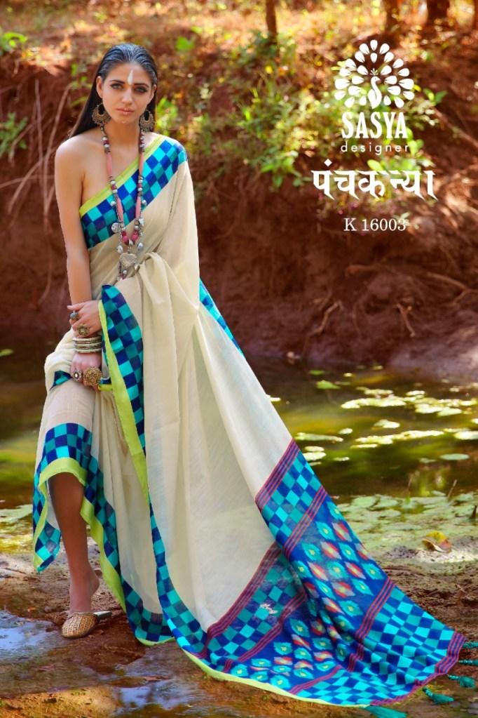 Sasya Designer panchkanya astonishing style gorgeous and stylish look Sarees in factory rates