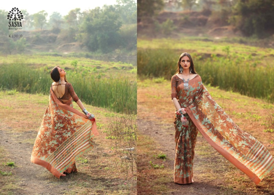 Sasya Designer saanj modern and Stylish look beautifull Sarees