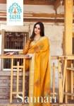 Sasya Designer sannari stylish look sarees