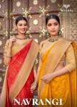 triveni navrangi cotton  print saree catalog