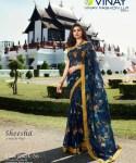 Vinay Fashion sheesha starwalk 56 weightless with jacqard border  astonishing style saree  catalog