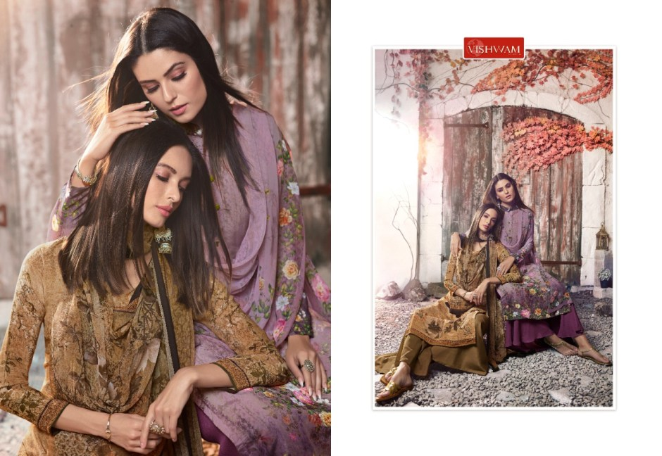 Vishwam fabrics Cafe latte vol-6 gorgeous stylish look Salwar suits in wholesale price