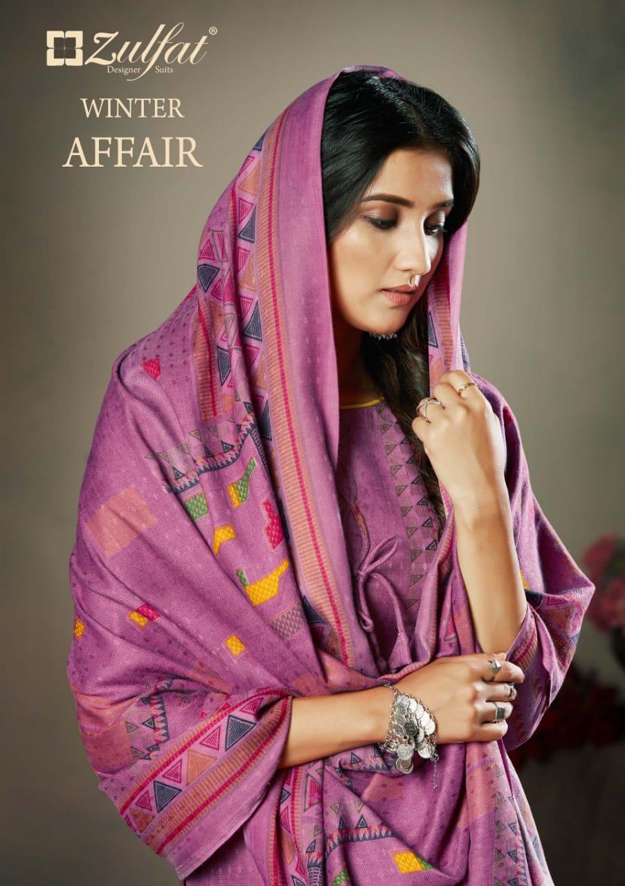 zulfat designer winter affair decent look salwar suit catalog
