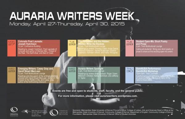 Auraria Writers Week 2015 - April 27-30