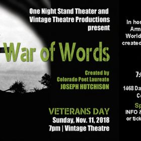 "Celebrate Armistice Day with ""War of Words"""