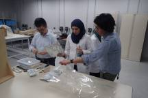 Japanese and Egyptian team checking the fumigation work process