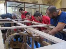 戦車の梱包@エジプト考古学博物館