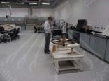 Preparing for the scan of Tutankhamun's artifacts