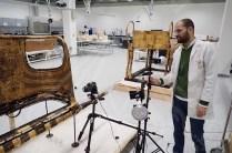 Mr Ahmed Abd-Rabo scanning Tutankhamun's Chariot