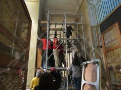 Taking the Wall Paintings off the Wall of The Egyptian Museum, AlTahrir