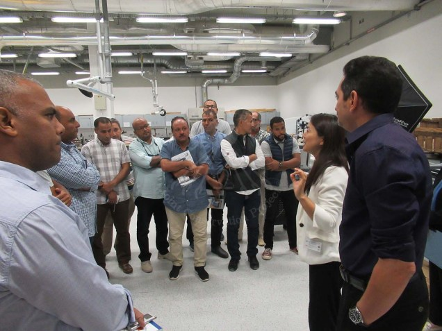GEM-CC Labs tour by Dr. Hussein and Ms. Nishisaka
