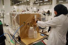 inserting nitrogen gas