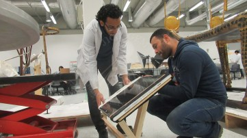 Preparing panel support for X-ray radiography