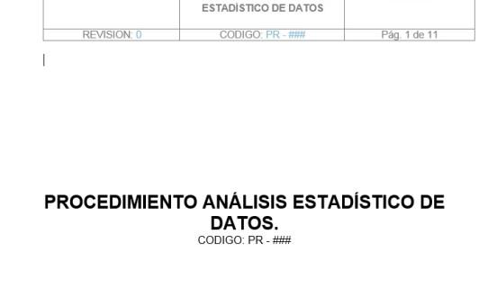 Análisis Estadístico de Datos (Procedimiento)