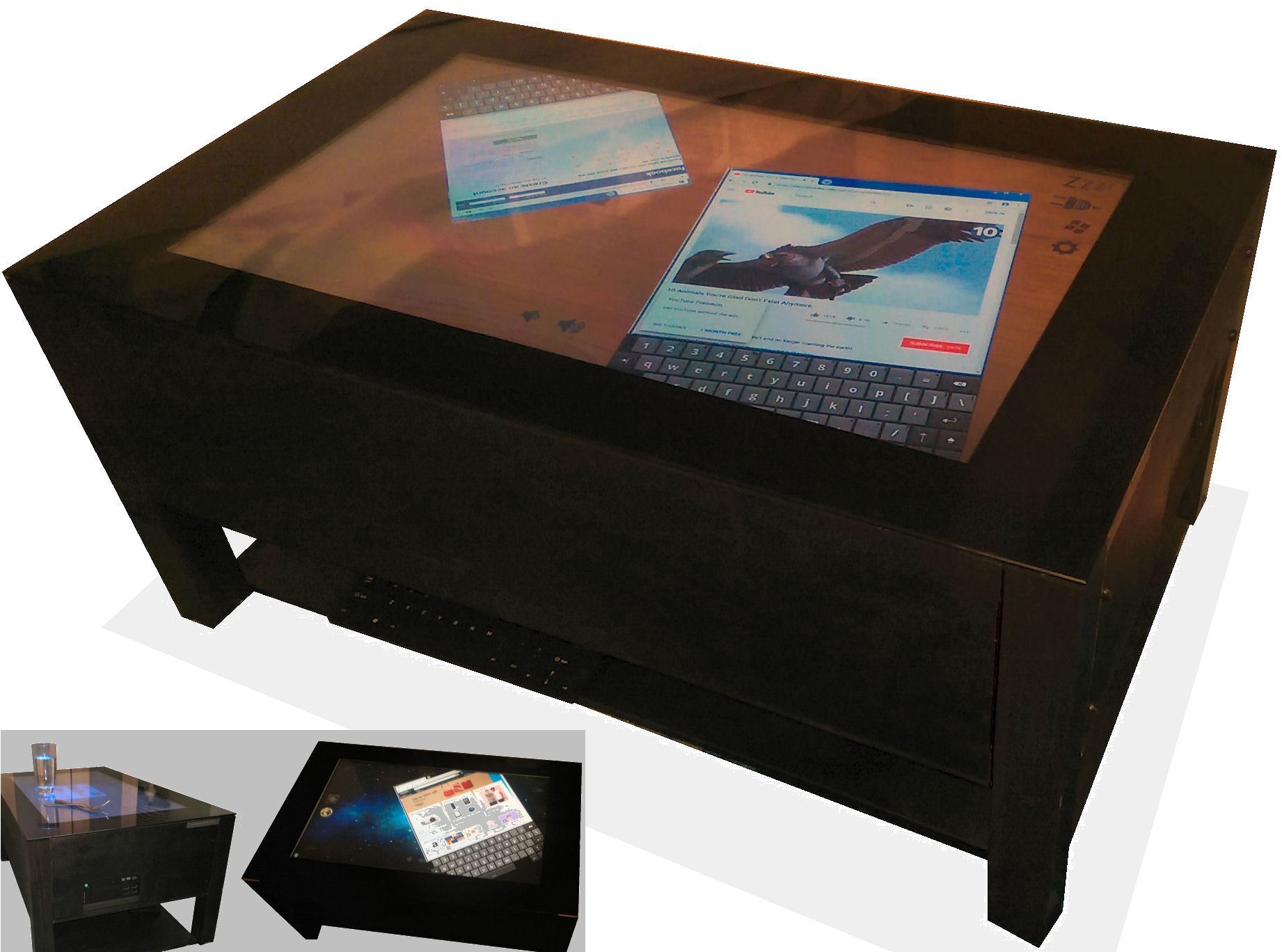 jigabyte touch screen coffee tables