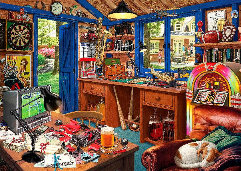 Man Cave Large Pieces Jigsaw By Steve Read HOL098620