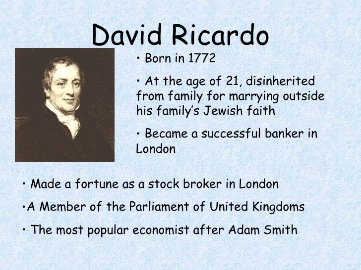 Ricardian Economics and Industrialization