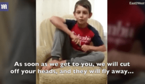 "Muslim boy, 11, waves knife, says ""Allah created me to lift up high the banner of Allah with the help of blood"""