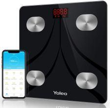 Yoleo smart scale bathroom bluetooth weight scale with 13 Body Analyzer