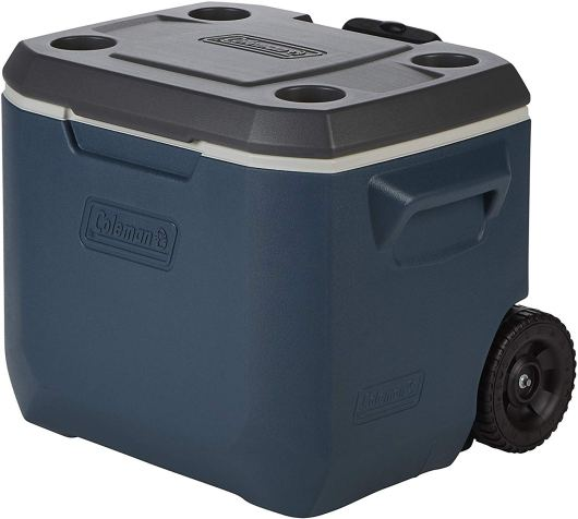 Coleman 50 Quart, heavy duty cooler with wheels