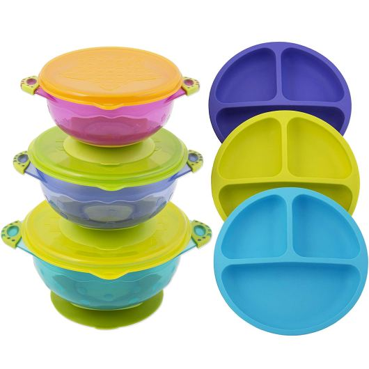 Toddlers, Babies plates and bowls with airtight Lid