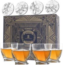 Whiskey Glass set of 4. Perfect for gift and cocktail