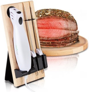 Nutrichef Portable Electric Knife set for bread and carving