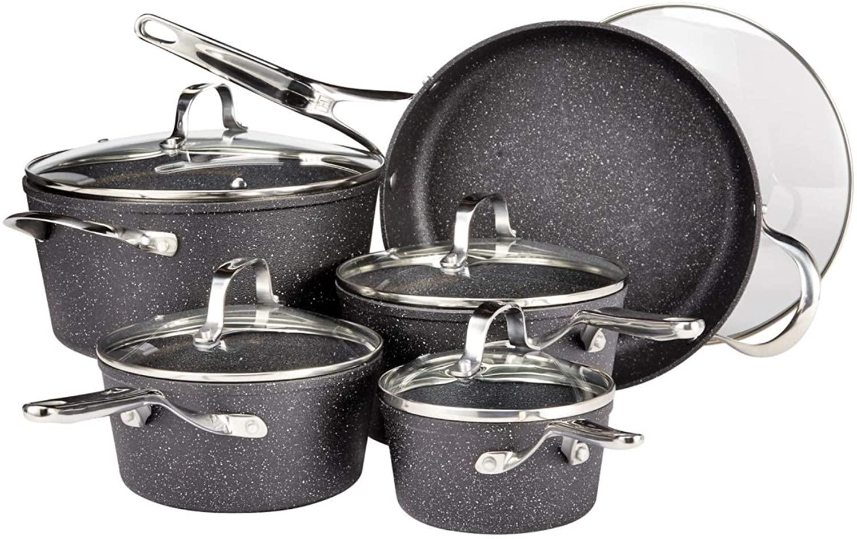 Heritage the rock cookware set, 10 Piece