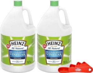 Vinegar for cleaning stainless steel