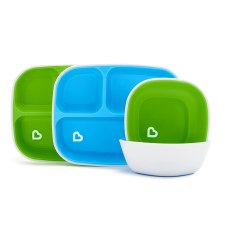 Munchkin Baby Plates and Bowl Dinning set
