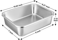 Picture showing the size and dimension of a deep Lasagna dish