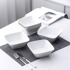 Porlien 18 Piece Square Dinnerware sets without mugs Canada