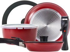 Rockurwok Cookware set pots and pans with removable handles