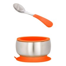 Avanchy Stainless steel Baby Bowls that stick to the table