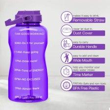 Motivational BPA free Gallon water Bottle