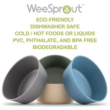 Best Baby Bowls - Eco-friendly Weesprout Bamboo Toddler Bowls for Kids