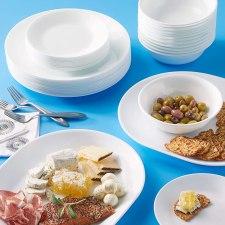 Lead and cadmium Corelle winter frost white dinnerware set 38 Piece